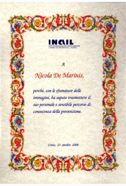Premio Nazionale INAIL 2008 per il video fotografico