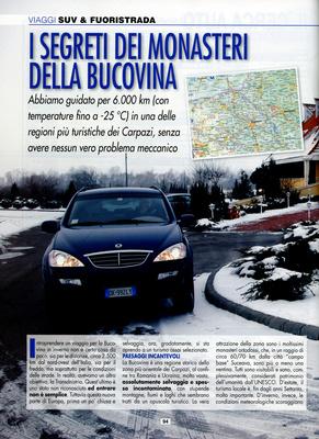 Suv & Fuoristrada - I Segreti dei Monasteri della Bucovina ( Romania Moldavia Transdnistria)