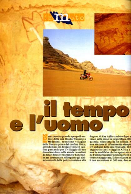 In Moto - Il Tempo e L'uomo - Viaggio In Moto In Solitario Nel Deserto Libico Dell'akakus