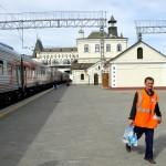 Asia, russia, la stazione ferroviaria di Vladivostok nell'estremo est della Siberia |Asia, Russia, the railway station of Vladivostok in the far east of Siberia