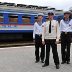militari della marina russa di ronda in stazione a Vladivostok, asia, russia |Military Russian navy patrol station in Vladivostok, asia, russia