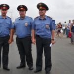militari russi durante l'inaugurazione del ponte sospeso a Vladivostok, asia, russia |Russian military during the opening of the suspension bridge in Vladivostok, asia, russia
