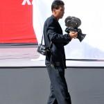 asia , corea del nord, l'operatore tv della televisione di stato nord coreana con una vecchia cinepresa 35 mm |asia, north korea, the operator TV North Korean state television with an old camera 35 mm
