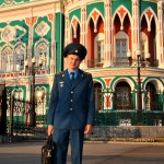 un giovane cadetto dell'esercito russo a Ekaterinburg, asia, russia, |a young cadet of the Russian army in Yekaterinburg, asia, russia,
