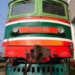 una vecchia locomotiva delle ferrovie russe rzd, della linea transiberiana nel deposito dei treni a ekaterinburg , asia, russia, ekatenburg, siberia,|an old locomotive of the Russian Railways RZD, the Trans-Siberian line in the train depot in Ekaterinburg