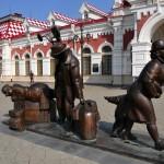 il museo ferroviario della transiberiana rzd, a ekaterinburg, asia, russia, sibera |the museum of the Siberian railway RZD, in Ekaterinburg, asia, russia, sibera