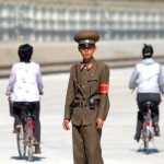 Asia, North Korea, the military at the ceremony for the reopening of the railway line Kazan Russian Far East