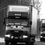 il passaggio del convoglio dei camion in Ungheria the passage of the convoy of trucks in Hungary ph © Nicola De Marinis