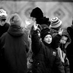 Ucraina Orfanotrofio di Zhitomir i bambini mi salutano mentre mentre mi avvio verso i camion per la partenza Ukraine Zhitomir Orphanage children greet me while while I go back to the truck to the departure ph © Nicola De Marinis