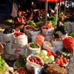 una donna vende i suoi ortaggi al mercato di Tiblisi a woman sells her vegetables at the market in Tbilisi ph © Nicola De Marinis