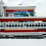 Transdnistria monumento con le foto di politici e personalità civili e militari a Tiraspol Transnistria monument with photos of politicians and civil and military dignitaries in Tiraspol ph © Nicola De Marinis