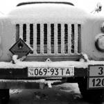 Ucraina dettaglio di un camion coperto da una coltre di ghiaccio in una stazione di servizio sui Carpazi Ukraine detail of a truck covered by a blanket of ice in a service station on the Carpathian Mountains ph © Nicola De Marinis