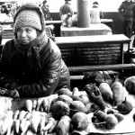 Ucraina una giovane donna con il suo banco di ortaggi al mercato di Zhitomir Ukraine a young woman with her bench vegetables at the market in Zhitomir ph © Nicola De Marinis