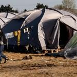campo prifughi di idomeni sul confine tra macedonia e grecia