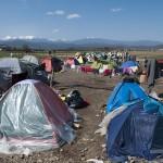 campo profughi di idomeni sul confine tra grecia e macedonia