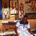 Burkina Faso, lavorazione dei Batik nel quartiere degli artigiani a Ouagadougou