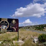 Croazia, isola di Pag , cartello pubblicitario di un caseificio a Kolan sulla strada per Pag