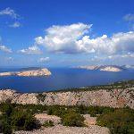 Europa, Croazia, Isole del Quarnero vedute panoramiche sulle montagne Velebiti