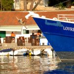 Europa, croazia, isola di Pag, il porticciolo nel villaggio di pescatori di Mandre