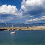 Croazia isola di Pag. La baia di Zrce