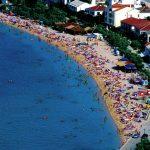 Croazia, Pag la capitale dell'isola vista dall'alto