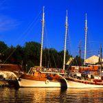 Croazia isola di Pag, la marina di mandre