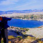 Croazia il golfo di Pag ed i monti velebiti sullo sfondo