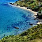 europa, croazia, un tratto di costa visto dalla strada sterrata da Sveti Doo che conduce a Pag, sull'omonima isola