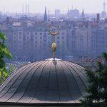 cupola di un bagno turco nel centro della città di Budapest