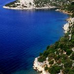 Croatia, Island of Rab, the stretch of coast in Milinica