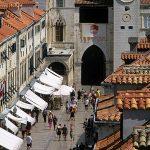 Europa, Dalmazia, Dubrovnik, il famoso Stradum, la via centrale di Dubrovnik vista dlle mura fortificate