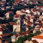 Dalmazia, Isola di Korkula, veduta sul villaggio di Blato