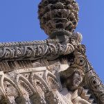 Dalmazia, Isola di Korkula, particolare architettonico della chiesa di San Marco a Korkula