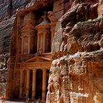 giordania, petra, khasneh to the faroun or the treasure of the pharaon
