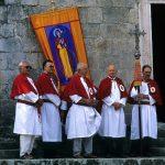 Dalmazia, Isola di Korkula, Blato, i confratelli in occasione della festa di Santa Vincenza presso la chiesa di Ognissanti a Blato