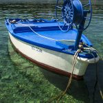 a fishing boat moored in the harbor of the island of Dugi Otok sava