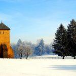 Romania, veduta esterna del monastero di Dragomirna nei pressi di Suaceava