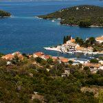 a view of the road on the ridge luka island of Dugi Otok