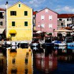 houses overlooking the harbor on the island of Dugi Otok to salts in croatia