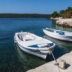 the port of zverinak on the island in croatia
