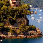 portofino A villa on the cliff at the entrance to the Bay of Portofino in Liguria
