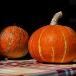 pumpkins on a table in front of a house on the island of Dugi Otok Bozava