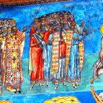 Romania, affreschi religiosi Ortodossi, al Monastero di Varonet