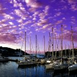 Europe, Italy, Sardinia, sailing boats moored in the marina of Santa Teresa di Gallura