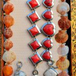 croatia, costume jewelry displayed in a shop on the island of Nin