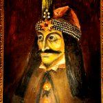 romania, transilvania, Sighişoara, il quadro raffigurante il ritratto del conte Vlad Dracul