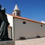 croazia, isola di nin, la chiesa di s.jacopo, nel centro storico del villaggio