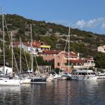 Zverinak and view of the small port on the island in Croatia