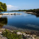 a bay on the island of molat in Croatia