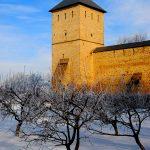 Romania, veduta del monastero di Dragomirna